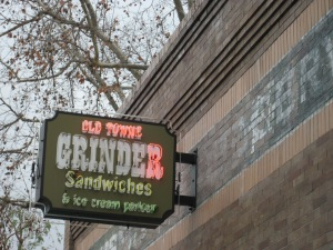 The Old Towne Grinder served us turkey/provolone sandwiches and sweet potato fries.