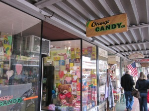 The Orange Candy Company has an array of candy from a baby-boomer's childhood.